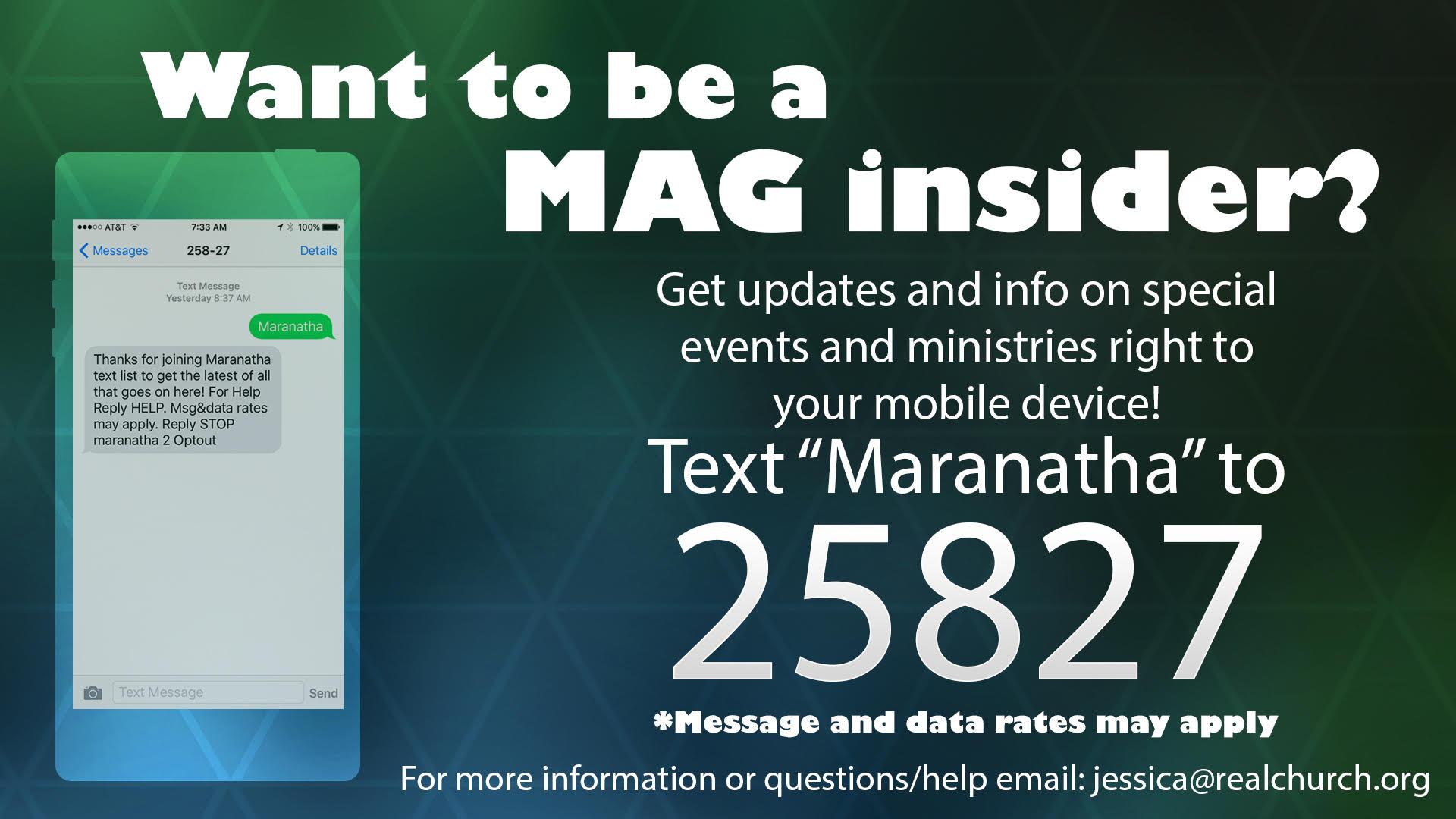mag insider - text bulletin